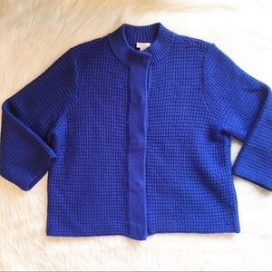 Chico's large chunky knit sweater cardigan wool